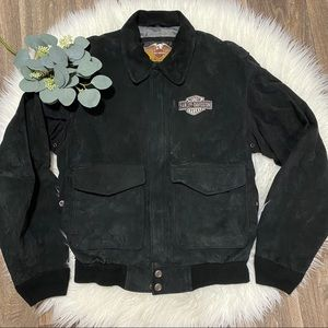 Harley Davidson Black Suede Leather Jacket